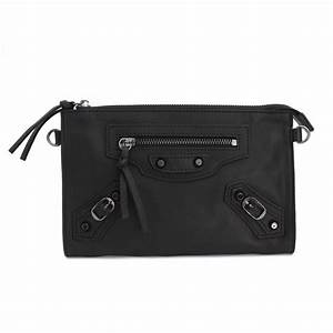 Rosaire « Amboise » Lambskin Leather Studded Clutch Bag ...
