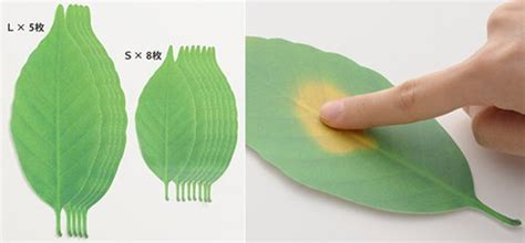 leaf thermometer paper temperature reader japan trend shop