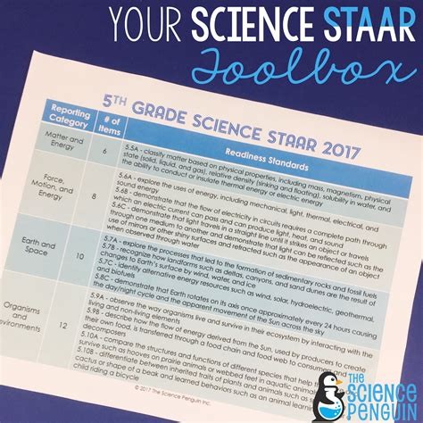 5th Grade Science Staar For 2017 — The Science Penguin