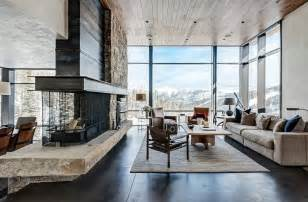 mountain home interior design rustic contemporary living room luxury mountain homes contemporary mountain home interior