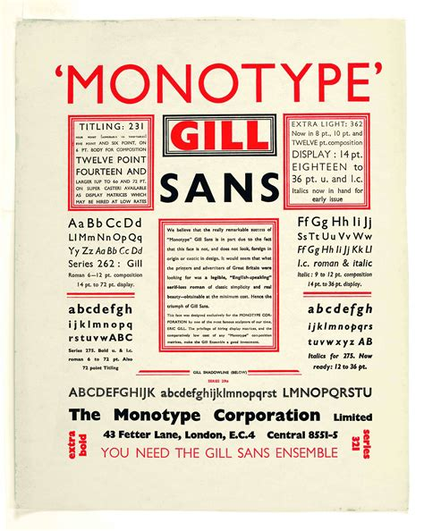 gill eric graphic design history the red list