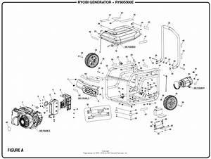 Homelite Ry905500e Inverter Generator Mfg  No  090930279 Parts Diagram For Figure A