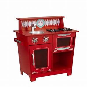 Cuisine Enfant En Bois : cuisine pour enfant en bois classic kitchenette rouge de kidkraft ~ Teatrodelosmanantiales.com Idées de Décoration