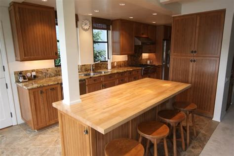 cherry wood cabinets with granite countertop cherry wood cabinets with maple butcher block and granite