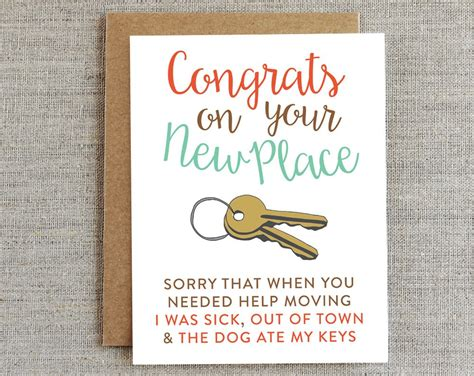 Funny Moving Card New Home Card Housewarming Card New House