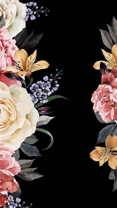 Iphone Flower Screen Dark Wallpapers Lock Floral