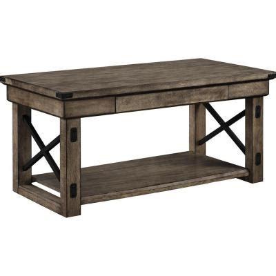 wood veneer table l shade altra furniture 22 in l altra wildwood wood veneer coffee