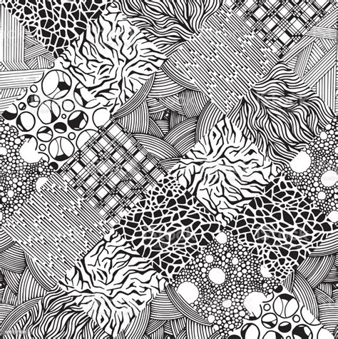 Different Textures Set Handdrawn Abstract Illustration