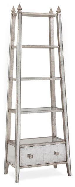 Silver Etagere by Regency Silver Leaf Mirrored Etagere