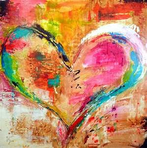 Beautiful Colorful Heart Painting Art Gallery - Images ...