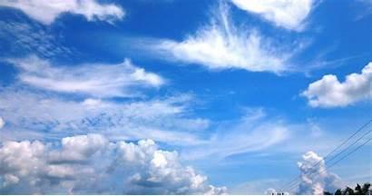 Awan Langit Gambar Pemandangan Biru Animasi Keren