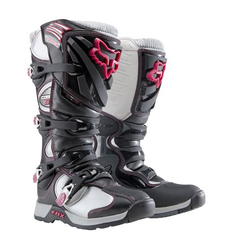 fox boots motocross fox racing womens ladies girls comp 5 boot black pink