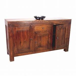 Meuble Bois Exotique : bahut en palissandre zen achat de buffet en bois exotique ~ Premium-room.com Idées de Décoration