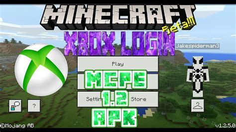 login to xbox account with mcpe 1 2 apk licence