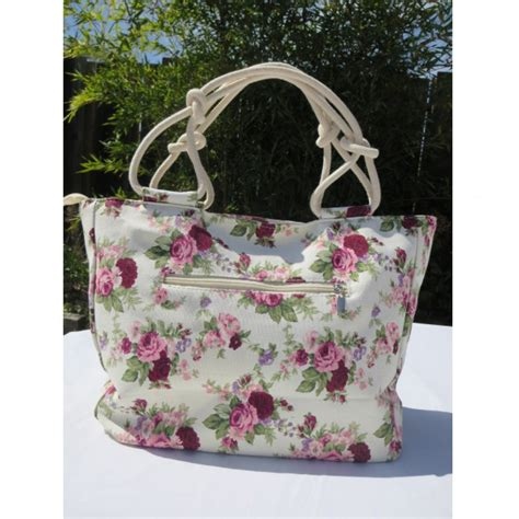 Cloth Bags With Softness Flowers Motifs CAF06