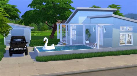 It has 1 double garage, 1 livingroom, 1 kitchen, 1 diningroom, 3 bedrooms, 1. BLUE RANCH   The Sims 4   CC Speed Build + CC LINKS - YouTube