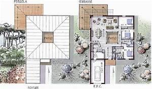 maison ossature bois de plain pied 146 m2 3 chambres With marvelous plan maison en l 100m2 2 maison plain pied en ossture bois ecologique