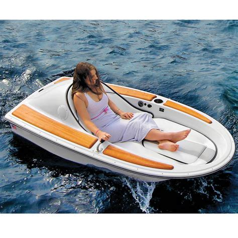 Single Person Fishing Boat by Hammacher Schlemmer Redefines The One Person Electric