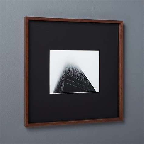 gallery walnut  picture frame  black mat cb