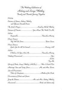wedding ceremony sle programs wedding invitation sle