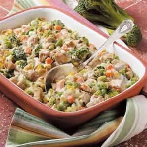 Turkey Veggie Casserole Recipe