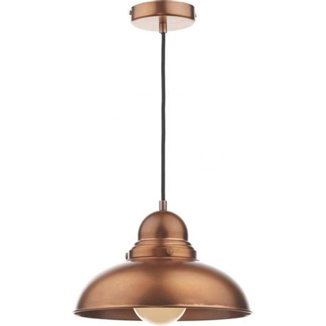 insulated antique copper ceiling pendant for