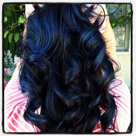 Navy Blue Lowlights by Blue Highlights Hair Color Ideas Hairstylo