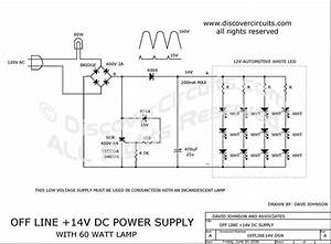 Circuit  60 Watt Lamp With Auxiliary 14v Led Lamp   Circuits Designed By David A  Johnson  P E