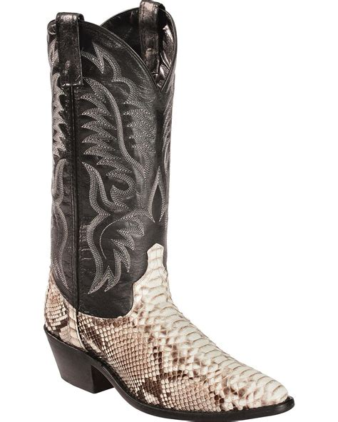 laredo mens genuine python snakeskin boots  wandrin