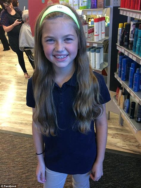 ohio girl jetta fosburg  donated  hair  cancer