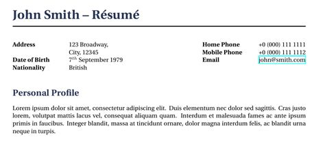 Font To Use In Resume by Resume Format Xelatex Resume Template