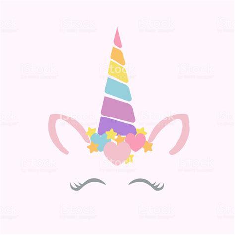 happy unicorn face vector stock vector art  images