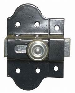 Serrurier Le Cannet : targette p ne plat acier laqu noir bouton fer largeur 35 ~ Premium-room.com Idées de Décoration