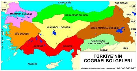Türkiye Coğrafi Bölgeler Haritası Boyama Resimlere Göre Ara Red