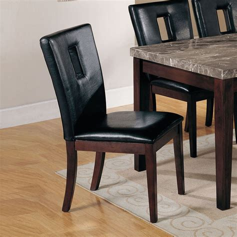 Kitchen Furniture Gallery Danville by Danville Cut Out Back Side Chair Set Of 2 Acme Furniture