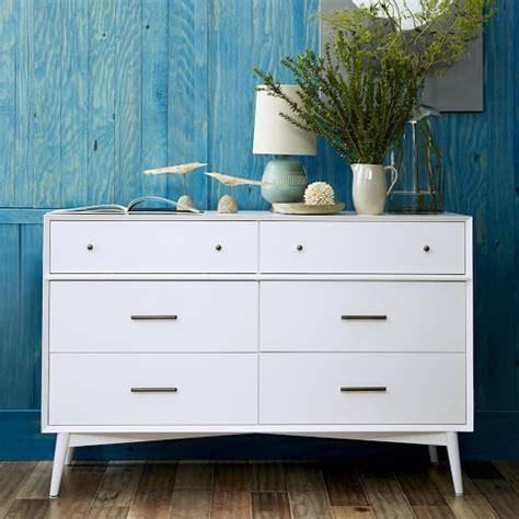 white 6 drawer dresser mid century 6 drawer dresser white west elm