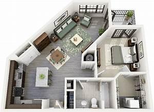 50 one 1 bedroom apartment house plans studio With studio apartment floor plans 3d