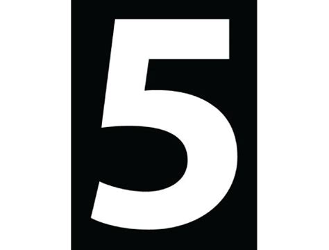 Number 5 Print Poster Black Typography Print Poster Canvas