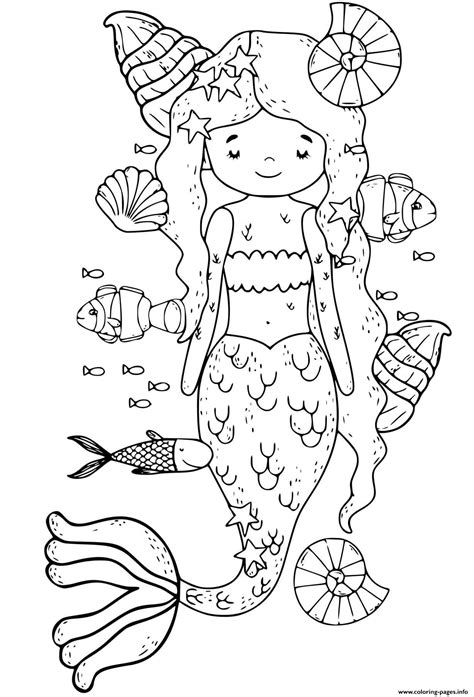 quiet mermaid relaxing  yoga time coloring pages printable