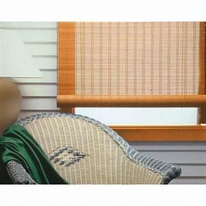 Store Enrouleur Bois : store enrouleur tamisant bois tiss chamois 90x180 cm ~ Premium-room.com Idées de Décoration