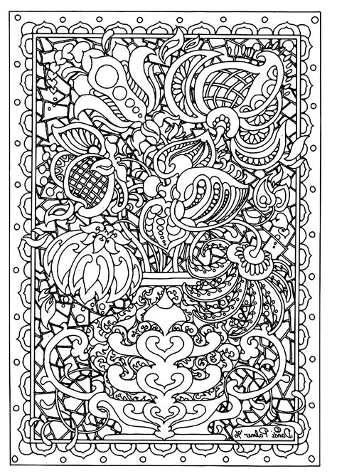 Flower difficult Flowers Adult Coloring Pages