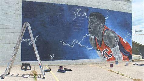 Lawton Artist Paints Russell Westbrook Mural