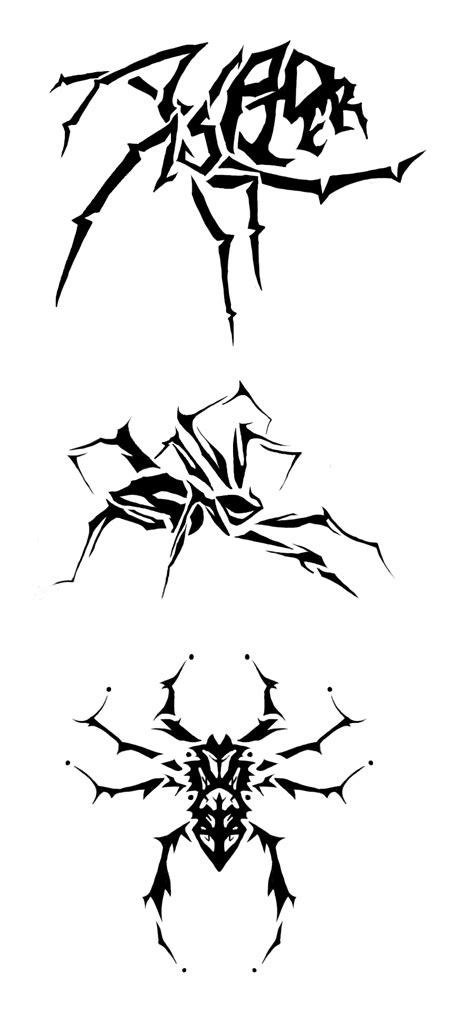 Tribal Designs for Widow Spider Tattoos - | TattooMagz