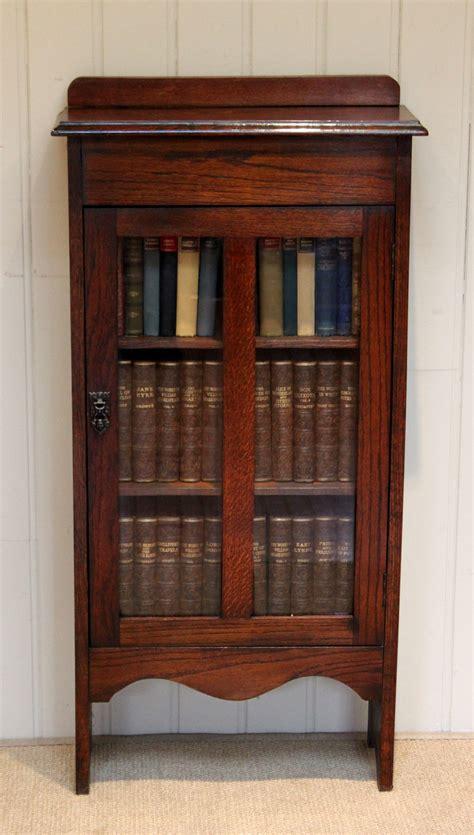 Single Shelf Bookshelf by Small Oak Glazed Single Door Bookcase Antiques Atlas