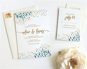 abstract dot wedding invitations peacock fine day press With wedding invitation abstract watercolor painting