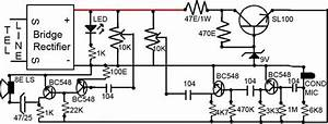 Simple Loudspeaker Circuit For Telephone Circuit Diagram