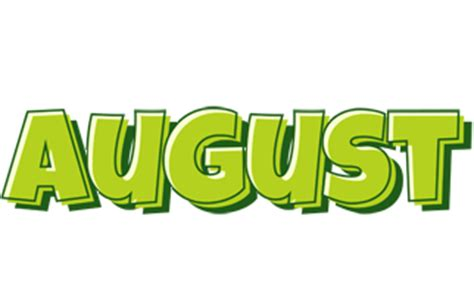 August Logo | Name Logo Generator - Smoothie, Summer ...