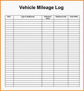 irs mileage log form