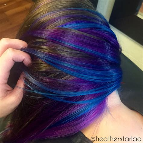Violet Underneath With Blue Highlights Purple Hair