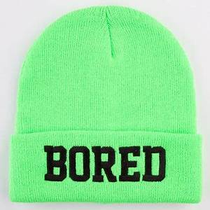 Reason Bored Beanie Neon Green e Size from Tilly s